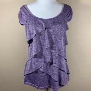 AB Studio Heathered Purple Blouse
